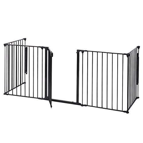 HPD Fireplace Fence Baby Safety Fence Hearth Gate BBQ Metal Fire Gate Pet Dog Cat (Hearth Gate Fireplace Gate compare prices)