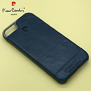 ORCUS Basics Pierre Cardin Luxury Leather Back Shell Cover Case For iPhone 5 & 5S - Blue