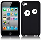Apple iPod Touch 4 4G 4th Generation Googly Eyes Black Silicone Skin Case Cover Keep Talking Shop iPod Touch 4 Accessoriesby The Keep Talking Shop