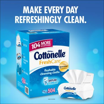 Cottonelle'S Fresh Care Flushable And Alcohol-Free Cleansing Cloths, 504 Cloths