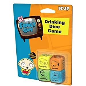 Family Guy Drinking Games dice!