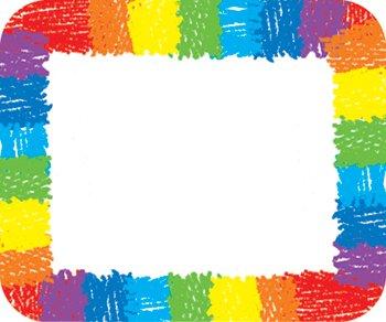 Rainbow: Kid-Drawn Name Tags - 1