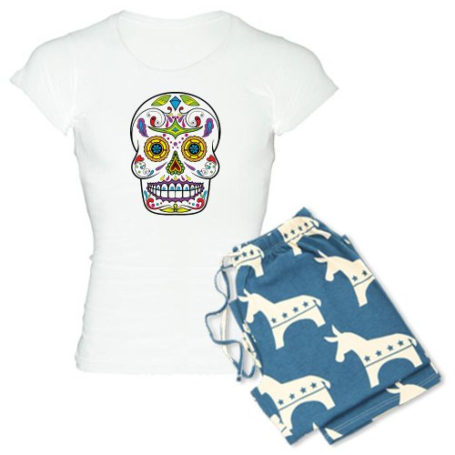 0406c34b80 CafePress Sugar Skull Pajamas Women s Light Pajamas from CafePress at the  skullshopping.com