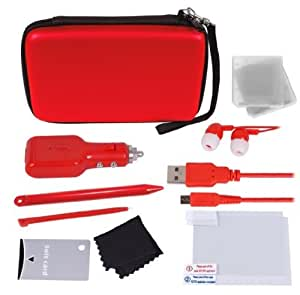Kit d'accessoires deluxe 12-in-1 pour 3DS/3DS XL - Red