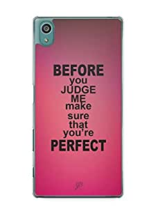 YuBingo Make sure you're perfect Mobile Case Back Cover for Sony Xperia Z5