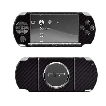 Skinomi TechSkin - Carbon Fiber Skin Protector Shield Full Body for Sony PSP 3000 + Lifetime Warranty