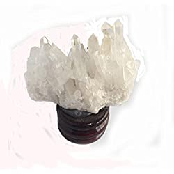 Hozoyo 1 Piece Small Clear Quartz Natural Crystal Cluster for Heart Healing