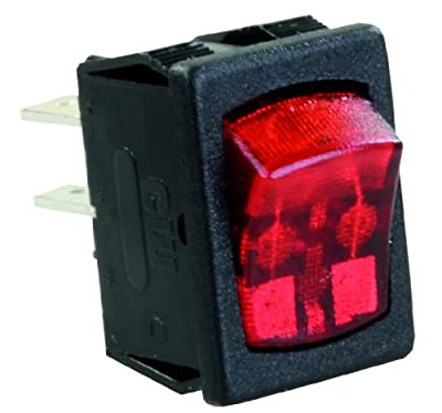 JR Products SPST Mini Illuminated On Off Switch