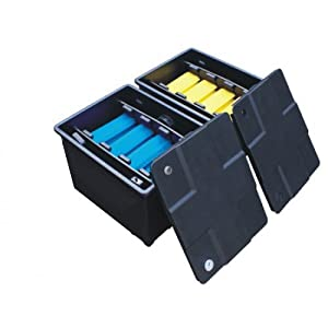 Koi pond filter box system 12000 litres two bay system for Large pond filter box