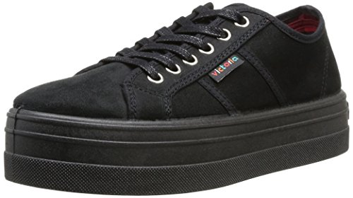 Victoria - Sneaker 109205 Donna, Nero (Noir (Negro)), 37