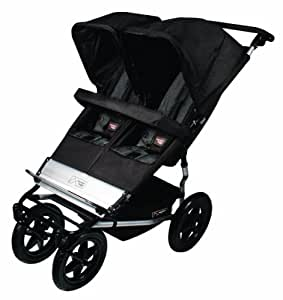 Mountain Buggy Duet Double Buggy Stroller (Black/Flint)