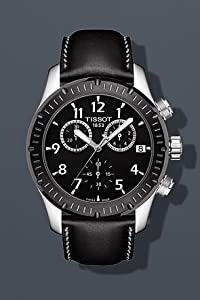 Tissot T039.417.26.057.00 Black Leather And Dial V8 Men's Watch