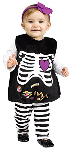 Skelly Belly Costume For Toddlers - 0-24M