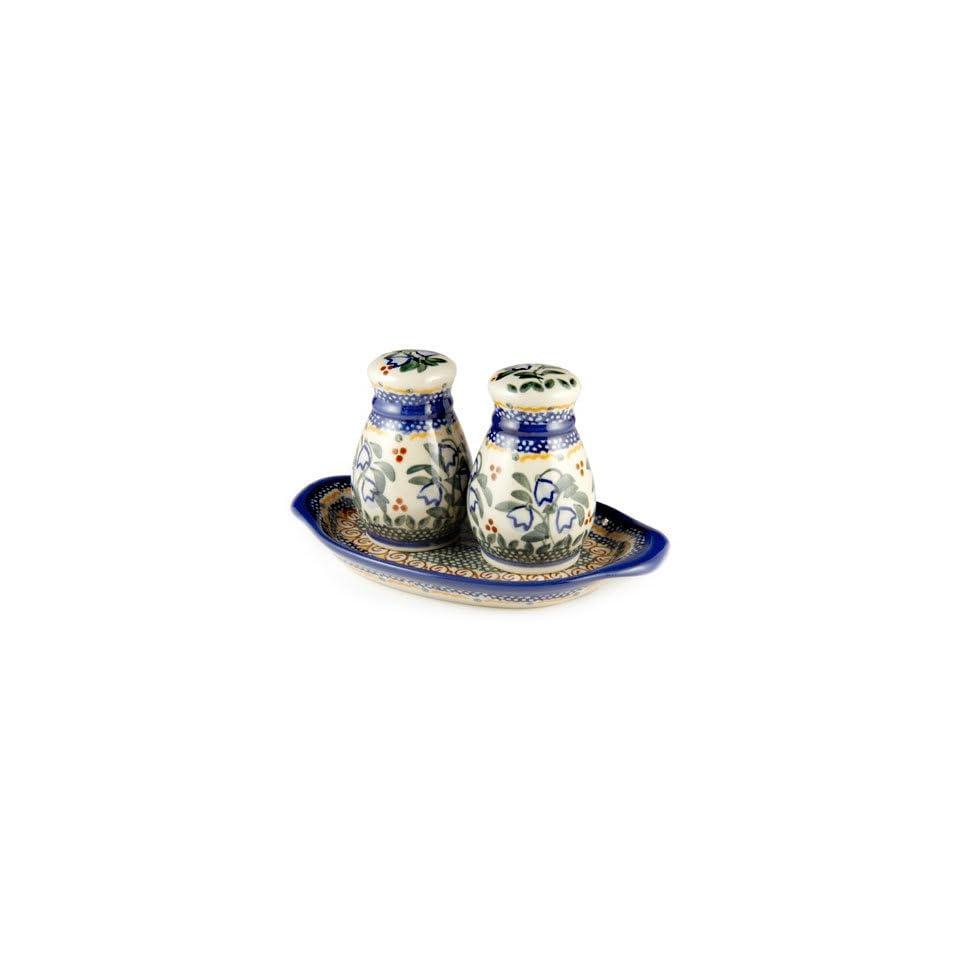 Polish Pottery Bluebell Salt & Pepper Shakers