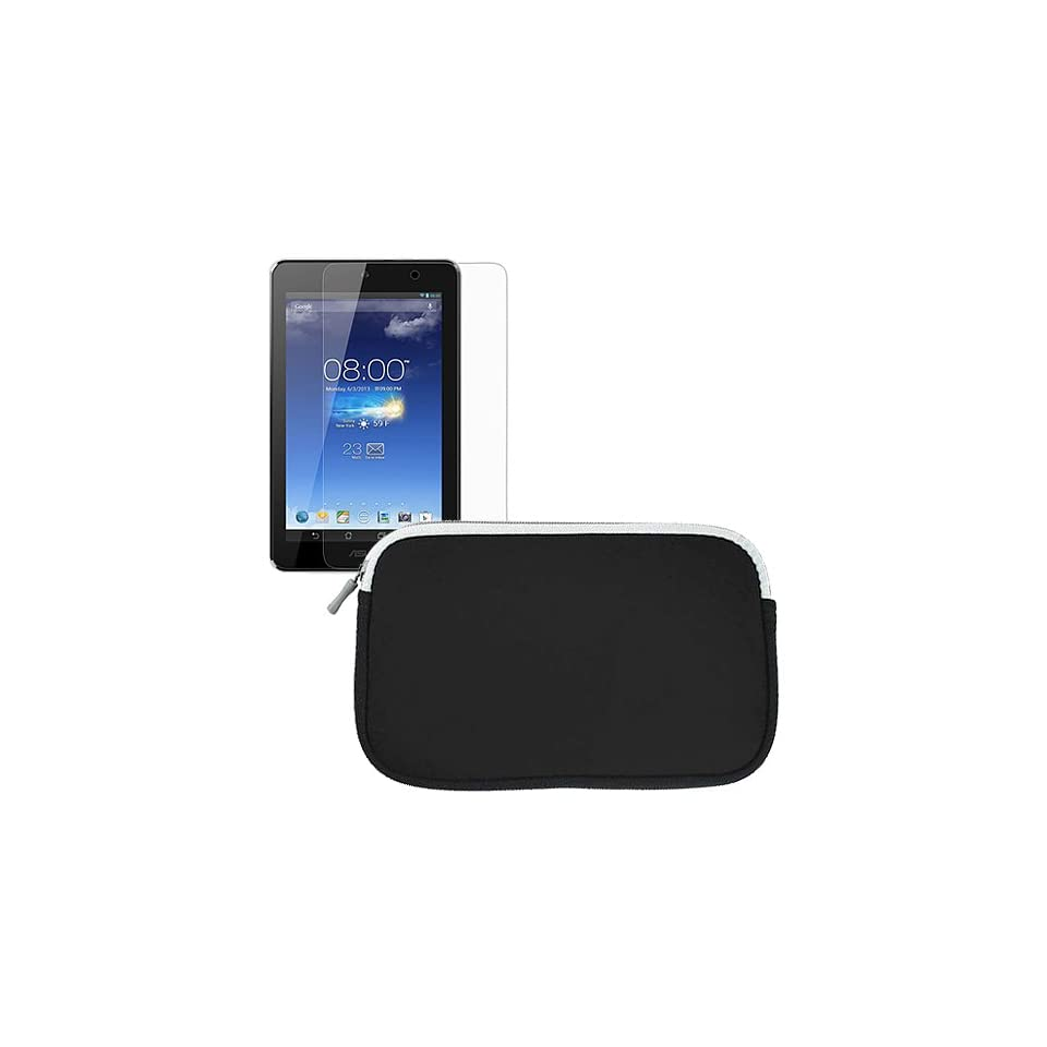 BIRUGEAR Neoprene Sleeve Zipper Storage Case with Screen Protector for Asus MeMO Pad HD 7 ME173X / ME173   7 Android Tablet