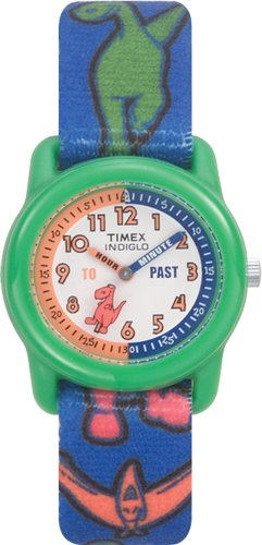 Timex Children's Time Teacher Dinosaurs Stretch Band Watch #T7B121