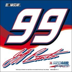 Jeff Burton NASCAR Car Flag by Hall of Fame Memorabilia