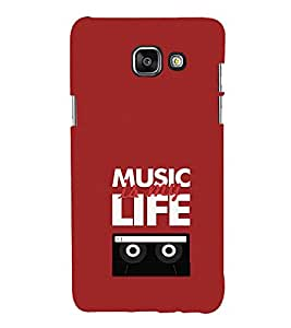 EPICCASE Music is my life Mobile Back Case Cover For Samsung Galaxy A5 (Designer Case)
