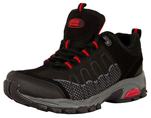 Scarpe da escursionismo Scarpe da trekking Scarpe da montagna Mountain Shoe donna GUGGEN MOUNTAIN T002, Colore Nero, EU 38