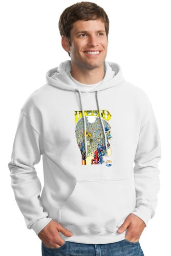 Keep On Truckin' Apparel, The Psychedelic Head, Unisex Hoodie, Art by R. Crumb-White-2X