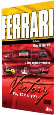 FERRARI: Victory By Design DVD - Ferrari all the cars