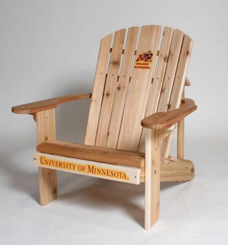 University of Minnesota Logo Adirondack Chair with 23 inch Seat Width