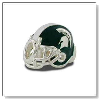 Michigan State Football Helmet Bead Charm