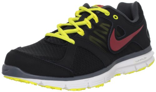 Nike Mens Lunar Forever 2 Running Shoes Black Schwarz (Black/Gym Red-Anthrct-Snc Yllw 010) Size: 40.5
