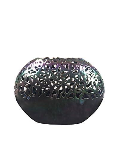 Privilege International Large Ceramic Bowl Vase, Clear