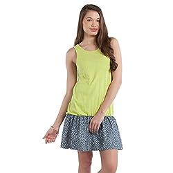 SbuyS - Lemon Drop Waist Knit & Chambray Dress