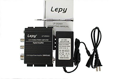 Aoki?新モデル Lepy LP-2024A+(ブラック) デジタルアンプ+ACアダプタ12V5A(PSE認証取得済) LP-2020A 後続機(安心な6カ月保証付き)