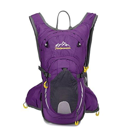 sac de vélo professionnel / sac d'escalade en plein air / sac de sport / Backpack Voyage-violet 15L
