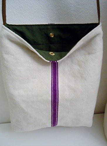 Vintage Grainsack Hemp/linen/leather Bucket Shoulder Tote Bag Purse