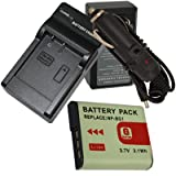 NEW Battery + Charger for Sony Cyber-shot DSC-W90 W80 NP-BG1 + Car Plug ~ Unknown