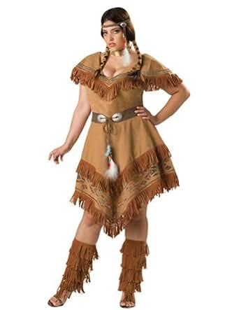 Amazon.com: AdultCostume Indian Maiden 3Xl Halloween Costume  Adult