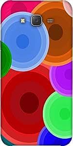 Snoogg Digi Bubbles 2387 Designer Protective Back Case Cover For Samsung J7