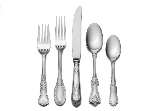 Wallace Hotel 77-Piece Stainless Steel Flatware Set, Service for 12 (Hotel Flatware compare prices)