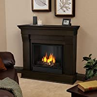 Chateau Ventless Gel Fireplace in Dark Walnut from Jensen Metal Products, Inc.