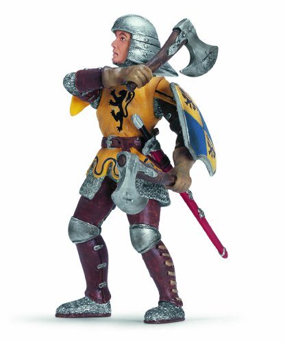 Schleich Foot Soldier W.Throw. Axes