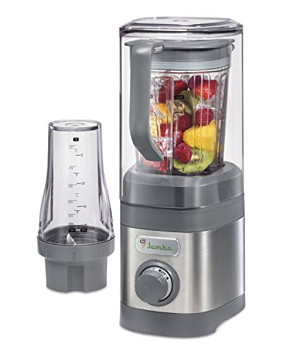 Jamba Appliances Quiet Shield Blender with 32 oz & Personal Single Serve 20 oz Jars, Gray (58916) (Smoothie Blenders Commercial compare prices)