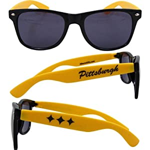 Pittsburgh Sunglasses (black W/gold) by Gift House