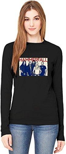 Poster Of HammerFall T-Shirt da Donna a Maniche Lunghe Long-Sleeve T-shirt For Women| 100% Premium Cotton Ultimate Comfort Large