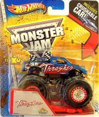 Hot Wheels Monster Jam - 2013 Thrasher (Spectraflames paint finish) - Includes CRUSHABLE CAR!!!