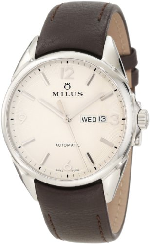 Milus Men's TIRC004 Stainless Steel with Silver Dial Watch