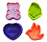 Ibili 732900 Valentine's Day Cookie Cutters