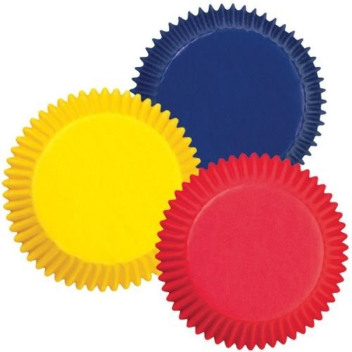 New 75 Wilton Primary Colors Cupcake Liners Baking Cups Favors 75