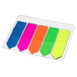 Uxcell Sticky Highlight Page Markers Arrow Flags, 2 Pack, 5 Colors