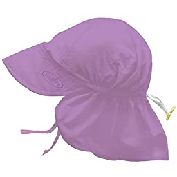 i play. Baby Flap Sun Protection Swim Hat, Lavender, 0-6 Months