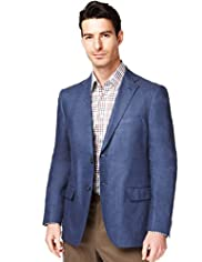 Collezione Pure Linen 2 Button Herringbone Striped Jacket