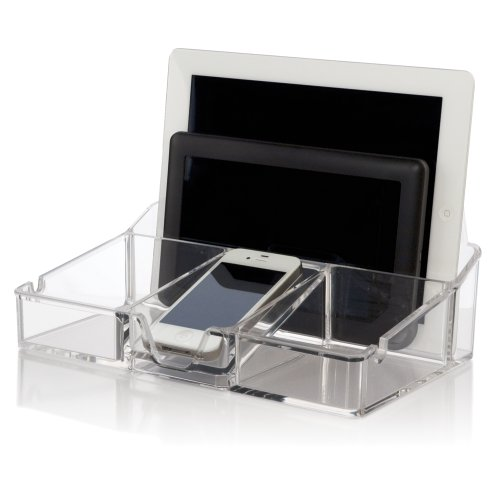 Smartphone Tablet Organizer Charging Station Cable Holder
